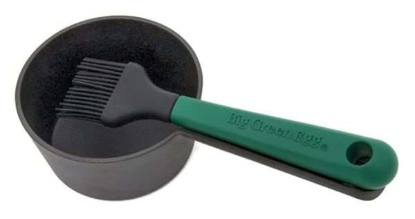 BGE Cast iron sauce pot with basting brush